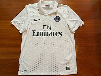 5251fa9ba Mens Paris Saint-Germain Away 2009 2010 Jersey Kit PSG M Dotted Soccer  Football