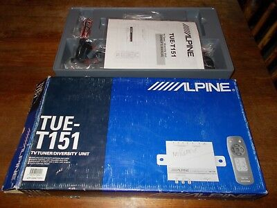 Alpine Tue-T151 Tv Tuner Diversity Unit-New In Box-No Remote