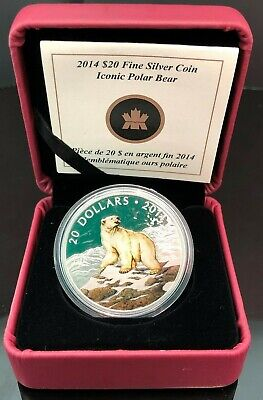 2014 $20 Fine Silver Coin - Iconic Polar Bear