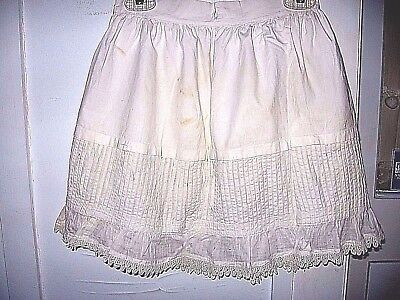 VINTAGE CHILD'S EARLY VICTORIAN EDWARDIAN 1900s COTTON PETTICOAT/SKIRT-PINTUCKS