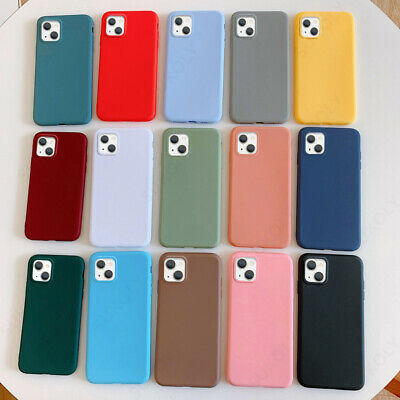 For Apple iPhone XS Max XR X 8 6s 7 Plus 11 Colors Case Slim Soft Silicone Cover