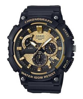 Casio MCW200H-9AV, Chronograph Watch, Black Resin Band, 100 Meter WR, Date