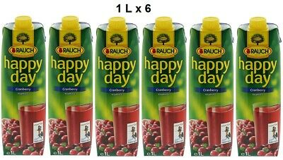 Rauch Happy Day Cranberry 1 L x 6