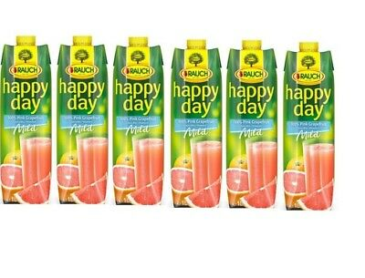Rauch Happy Day % 100 Pink Grapefruit 1 L x 6
