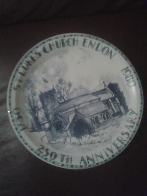 St Luke's Church Endon 250th Anniversary Plate 1980.