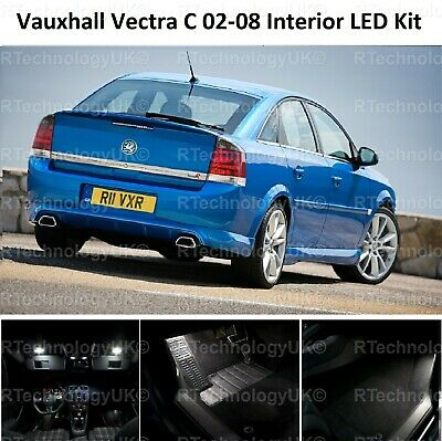 Premium Vauxhall Vectra C Mk2 02-08 Led Light Interior Upgrade Kit White Vxr Sri