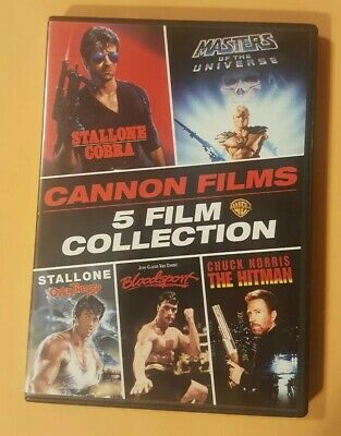 Cobra/over The Top/bloodsport/the Hitman/masters Of The Universe Dvd In Vgc