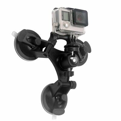 Triple Suction Cup Mount Low Angle Sucker Holder for Gopro Hero 2 3 3+ 4 AO