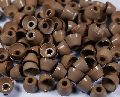 beige plastic cone drawstring stopper cord toggle pull cord end cap