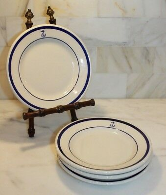 "US NAVY~7"" Bread Plates by Homer Laughlin~Lot of 10"