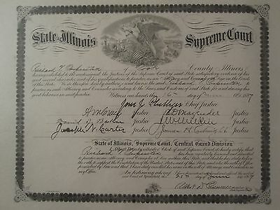 Antique 1897 Supreme Court Justice Autographs Il Regiment Brigadier General Yale