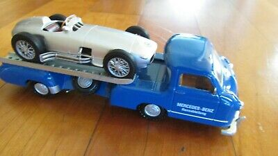 1954-55 Mercedes Benz Rennauto Transport The Blue Wonder And W196 Racer 1:43