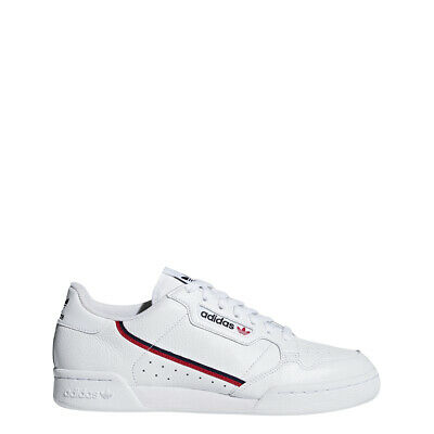 New Adidas Men's Originals Continental 80 Shoes (G27706)  White // Red-Navy