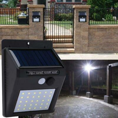 30LED Solar Power Light PIR Motion Sensor Outdoor Garden Yard Wall Lamp CHZ