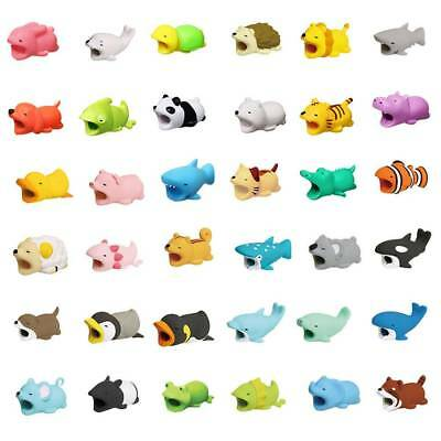 Cute Animal Cartoon Cable Saver Cover Phone USB Bite Charger Data Cord Protector