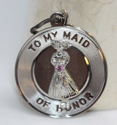 Fine Charms & Charm Bracelets Sterling Silver To My Maid Of Honor Disc Charm Qc1499 Fine Jewelry