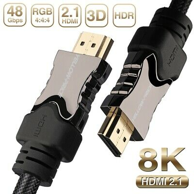 Braided HDMI v2.1/2.0/1.4 Cable 6FT for 2019 2018 2017 3D HDTV 4K 1080p~4320p