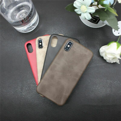 For iPhoneXS MAX XR 7/8 Plus X/XS Ultra-thin Quakeproof PU Leather Case Cover