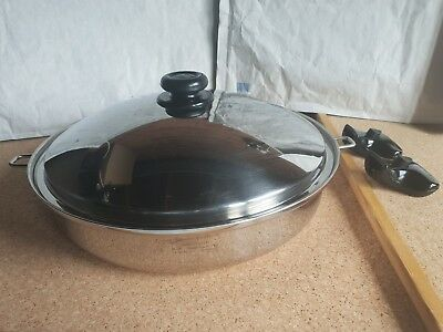 SaladMaster 316Ti 7 Qt. (6.6L) Titanium-Stainless-Steel Wok with Cover + Handles