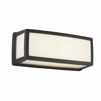 Washington Outdoor Small Led Rectangle, Grey, Opal White, Diffuser Wall Bracket
