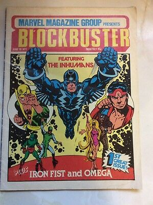Blockbuster Marvel Monthly Comic No 1  # 1 June 1981