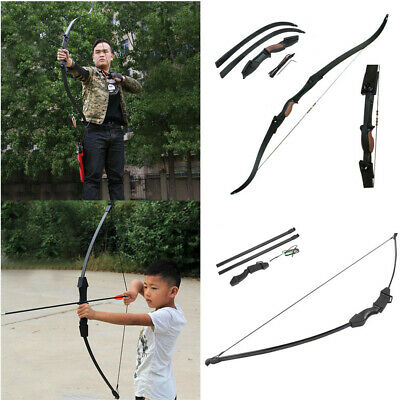 "15/25lbs 56"" Archery Hunting Takedown Recurve Bow Arrow Shooting Left Right Hand"