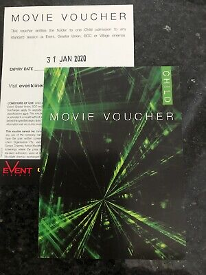 Two Child Event/ Greater Union/ Village/ bce movie tickets - Long Expiry