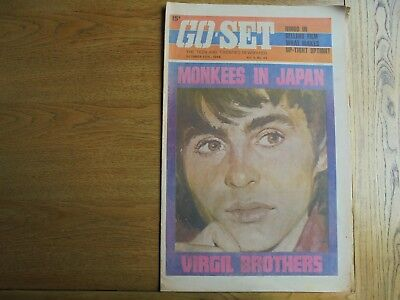 Go - Set  Oct 30 1968 Davy Jones cover & color Poster Vol 3 N 43 Virgil Brothers