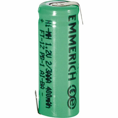 Emmerich 255011 NiMH 2/3 AAA Size 1.2V 400mAh Rechargeable Battery Tagged
