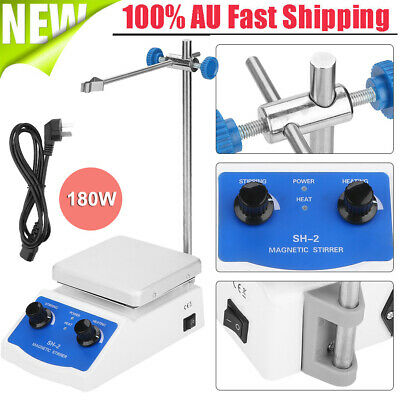 180W Laboratory Magnetic Stirrer with Stir Bar Magnetic Mixer Heating Plate 380℃