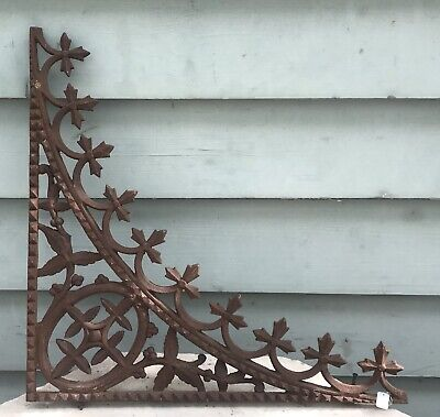 Victorian Cast Iron House Lace Lacework Corner Bracket Edwardian Verandah Decor