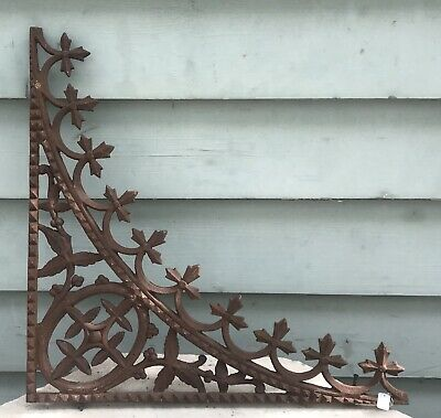 Victorian Cast Iron House Lace Lacework Corner  Verandah Antique Vintage