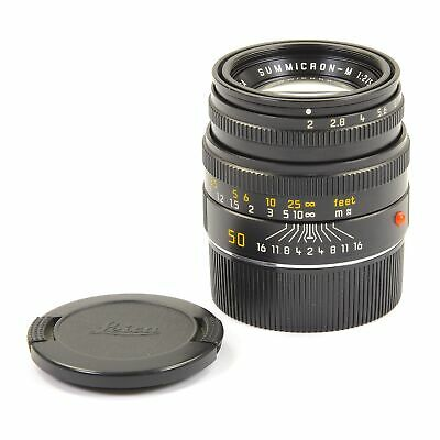 Leica Leitz 50Mm F2 Summicron-M Black 11826 #2088