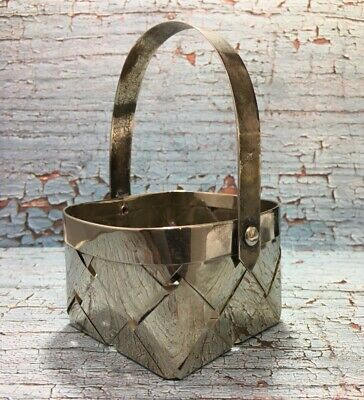Vintage Stainless Steel Small Basket