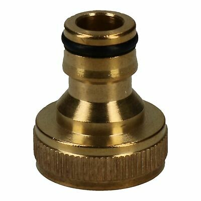 """3/4"""" Brass Hose Connector Screw Tap Fitting Garden Water Pipe Quick Adaptor"""