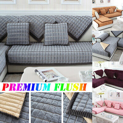 Premium Flush Sofa Cover Quilted Couch Covers Lounge Protector For 1/2/3 Seater