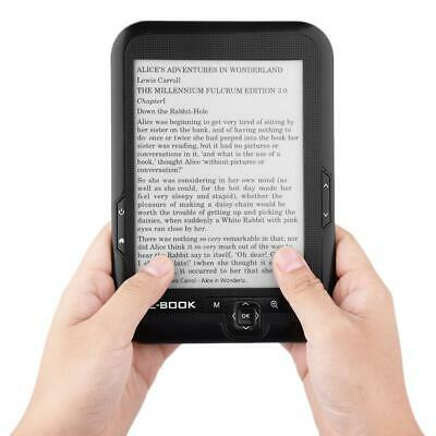 "Portatile eBook Reader Lettore E-Ink Schermo 6"" Anti Riflesso 8GB FM MP3 Player"