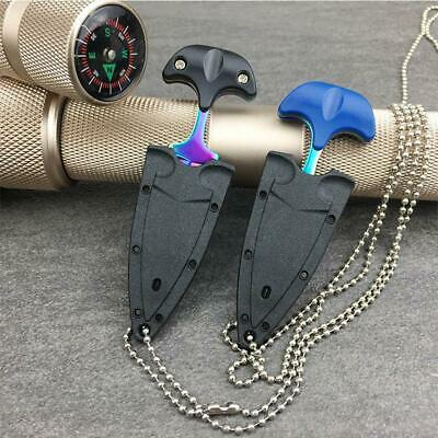 Knife Necklace Chain Self Defense Survival Tactical Outdoor Hiking  Multi-Tools