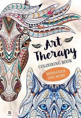 Art-Therapy Adult Colouring Book: Menagerie & More Rrp$14.80