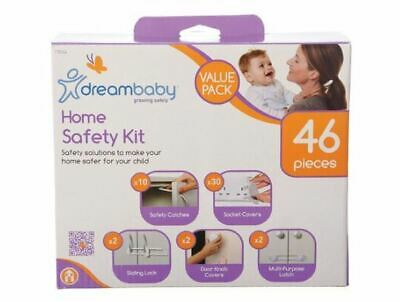 46Pcs Home Safety Kit Child Household Value Pack Catches Plugs Latch Covers