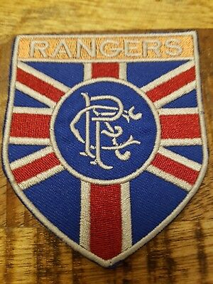 Retro Glasgow RANGERS Cloth Sew/iron football shirt flag Patch Badge scotland