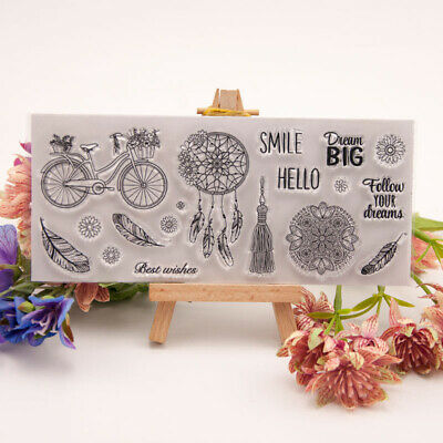 dreamcatcher transparent clear silicone stamp for diy scrapbooking photo decorME