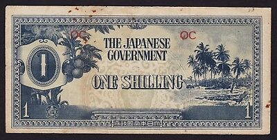 Oceania Japan Occupation WWII One Shilling Banknote 1942 P-2a