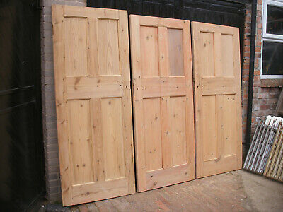 Reclaimed 1920s / 1930s 4 panel doors. Stripped, in excellent condition