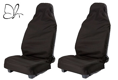 HD WATERPROOF BLACK FRONT SEAT COVERS for DODGE RAM