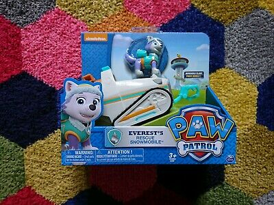 Rare NEW PAW Patrol Everest's Snowmobile Pup & rescue vechile great kids present