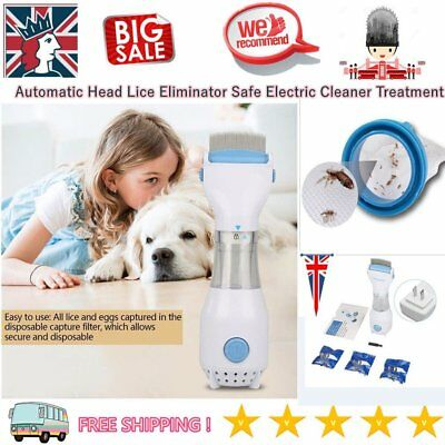 LiceTex Automatic Head Lice Eliminator Electric Cleaner Treatment dogs/cats
