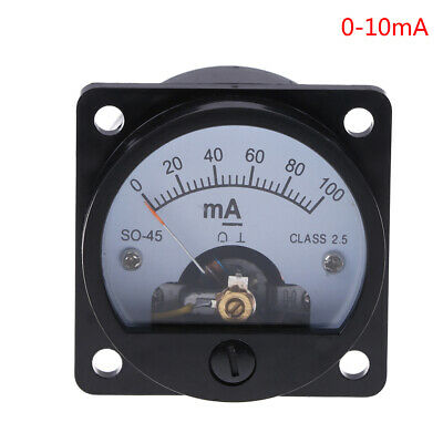 Ammeter SO-45 class 2.5 accuracy DC 0-100mA round analog panel meter black ME
