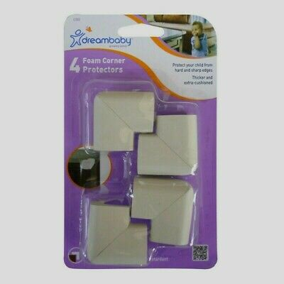 Dreambaby L1302 THICK FOAM CORNER PROTECTORS Baby Child Proof Edge Bumpers 4 pk