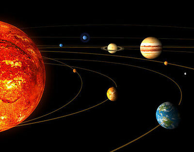 Montage of Planets Solar System Photo Print 14 x 11""